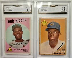 Baseball Cards Two Of The Most Sort After Rookie Cards Gibson And Brock
