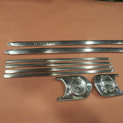 1952 Ford F6 Five 5 Star Badge Truck Hood Molding Stainless Trim Original 2