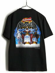 '90s Made In Usa Budweiser Both Sides Print Short Sleeve