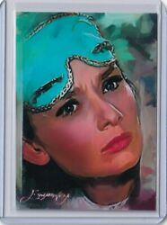 Sp4 Audrey Hepburn Holly Golightly 1 Aceo Art Sketch Card Signed By Artist 3/50