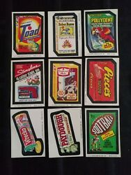 1974 Wacky Packages 12th Series Complete Set Of Stickers W Puzzle