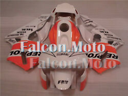 Orange White Injection Racing Plastic Fairing Fit For 2003 2004 Cbr 600rr F5 Afx