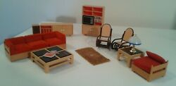 Tomy Vintage Living Room Set With Additional Pieces 2 Rocking Chairs