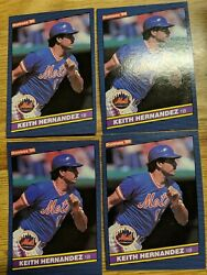 1986 Donruss Keith Hernandez #190 Mets lot 4 extra of the same card