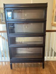 Antique Macey Barrister Bookcase 4 Stack