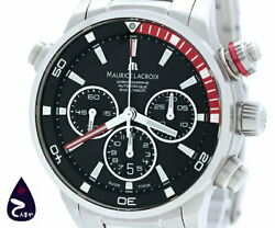 Maurice Lacroix Pontos S Chr Pt6018 Used Watch Menand039s Self-wind Back Sk Excellent