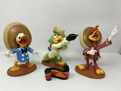 Wdcc The Three Caballeros 50th Anniversary Set Of 4 W/ Boxes And Coa's