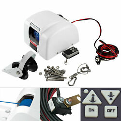 Boat White Electric Anchor Winch With Remote Control Marine Saltwater 45 Lbs