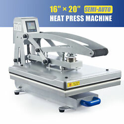 Heat Press Machine 16x20 Auto Open Clamshell T Shirt Press For Clothes Bags More