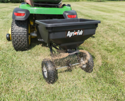 85 Lb Behind Tow Hopper Broadcast Spreader Fertilizer Seed Atv Lawn Tractor Pull