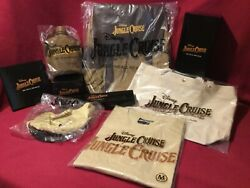 Huge Disney Jungle Cruise Movie Swag Lot Backpack Canteen Sailor Hat Watch Shirt