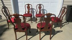 Ethan Allen Dining Room Chairs Mahogany Set