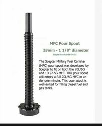 New Scepter Mfc Spout Military Diesel Nozzle Original Army Issue Hi Flow.
