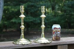 Pair Of Baldwin Brass Smithsonian Institution Candle Holders Very Heavy