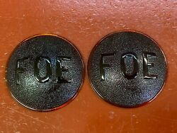 Vintage Ford Model A Fraternal Order Of Eagles Tail Light Lens Pair Accessory