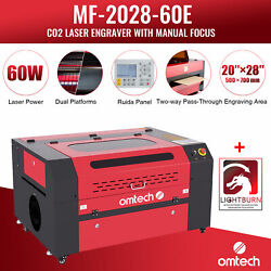 Omtech 60w 28x20 Co2 Laser Engraving Cutting Etching Machine With Lightburn