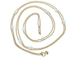 6.76ct Opal And 9ct Yellow Chain Necklace Antique Circa 1900