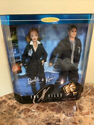 The X-files Barbie And Ken Collector Edition Gift Set Scully And Mulder Figures New