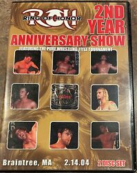 Roh 2nd Year Anniversary Show 2004 Dvd Ring Of Honor Wwe Aew Nxt Tna Pwg Ecw
