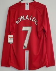 Nike Manchester United Ronaldo 07-09 Ls Home Jersey / Shirt - Size L Nwt