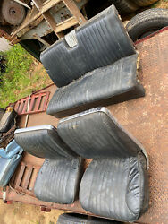 1963 Buick Electra Front Bucket Seats Rear Bench Black Leather Power Driver 1962