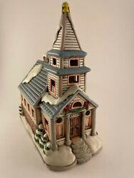 Vintage 1987 Rare Geo. Z. Lefton By Byron Wood Colonial Village Lighted Chapel