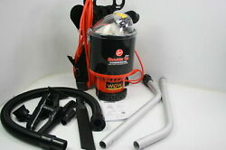 See Notes Hoover Commercial C2401 Lightweight Backpack Vacuum Black W Harness