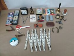 Job Lot 1 Junk Drawer – Pocket Knives, Trading And Playing Cards, Hardware Items