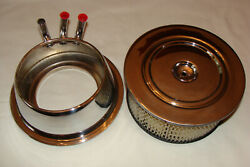 57 Chevy Corvette Rochester Fuel Injection Air Cleaner Rat Rod Hot Street 1957