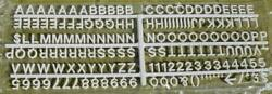 Letters Numbers 320 Changeable Plastic Symbols Menu Message Board White New 5/8