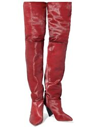 Isabel Marantz Over The Knee Lostynn Calf Hair Size 40 Sold Out