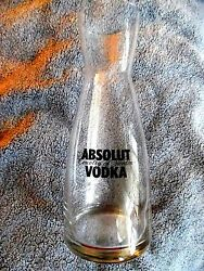 Absolut Vodka Country Of Sweden Promotional Glass Decanter