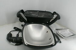 See Notes Weber 52020001 Q1400 Electric Grill W Drip Tray 2 Grates Outdoor Use