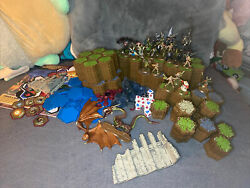 Huge Heroscape Lot Tiles Characters Dice Giant Hero Scape Game Lot
