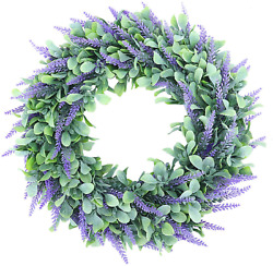 Lavender Wreath For Front Door, 18 Artificial Farmhouse Wreaths For Wall