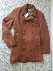 Banana Republic Heritage Leather Lined Jacket Brown 750.00 Size L Nwt