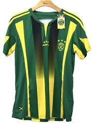 Rare Authentic Brand Lms Sports Jamaica Soccer Jersey Size Xl Nwt Green