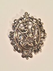 Peruzzi Boston Vintage Signed Sterling Silver Soldier on a Horse Brooch Pin