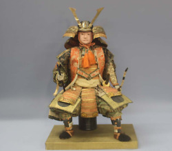 Japanese Vintage Armed Samurai Large Doll Early Showa Period