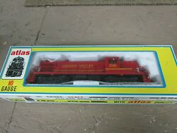 Atlas /kato Ho Rs-3 W/dcc And Sound Lehigh Valley Custom Paint Excellent Cond.