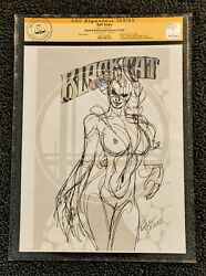 Bart Sears Rough Sketch Blackcat Verified And Encapsulated