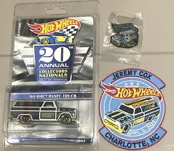 2020 Hot Wheels 20th Annual Collectors Nationals Dinner '64 Gmc Panel Patch Pin