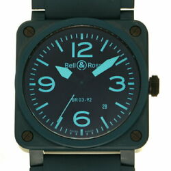 Bell And Ross Aviation Br03-92bluec-r Used Watch Menand039s Ceramic Blue Excellent
