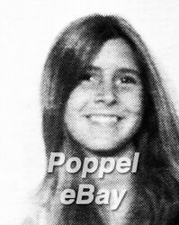 Carrie Fisher In Sam Simon's Very Own Copy Beverly Hills High School Yearbook