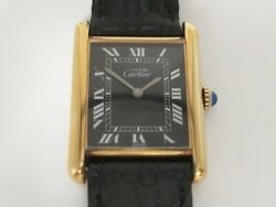 Must Tank Black 077449 manual Winding Rare Collector Vintage Watch