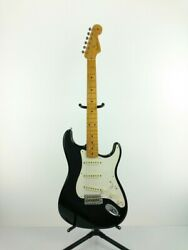 Used Fender Electric Guitar Stratocaster Black Sss American With Tough Case