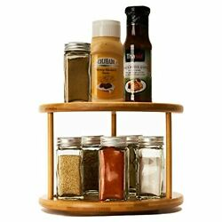 Lazy Susan Turntable 10inch Bamboo Spinning Spice Rack Holder Kitchen Cabinet