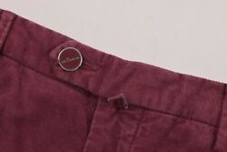 Kiton Nwt Casual Pants / Chinos In Burgundy Corduroy Cotton Blend Size 31 995