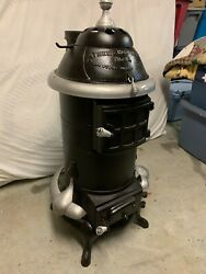 Vintage Athens Hot Blast No 14 Wood Or Coal Parlor Heater Antique Heater