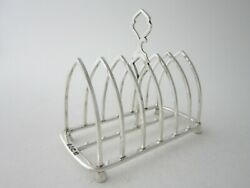 Antique Victorian Sterling Silver Toast Rack -1895 By Gibson And Langman